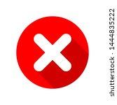 cross mark icon isolated on... | Shutterstock .eps vector #1444835222