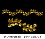3d illustration ornament.... | Shutterstock . vector #1444835735