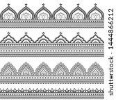 seamless borders pattern for... | Shutterstock .eps vector #1444866212