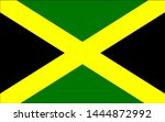 the flag of jamaica with cross... | Shutterstock . vector #1444872992