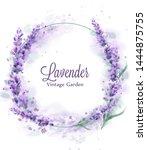 Lavender Wreath Vector...