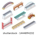isometric bridge. concrete... | Shutterstock .eps vector #1444894232