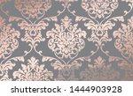 damask pink gold ornament... | Shutterstock .eps vector #1444903928