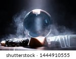 Small photo of Crystal ball predict the fate. Guessing for the future.