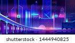 future metropolis night... | Shutterstock .eps vector #1444940825