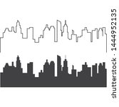 City Skyline Vector Silhouette...