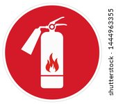 vector safety icon sign fire... | Shutterstock . vector #1444963355
