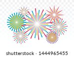 fireworks vector illustration.... | Shutterstock .eps vector #1444965455