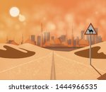 arabian journey at the highway... | Shutterstock .eps vector #1444966535