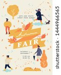 vector autumn fair poster ... | Shutterstock .eps vector #1444966565