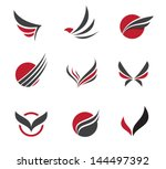 black wing logo symbol for a... | Shutterstock .eps vector #144497392