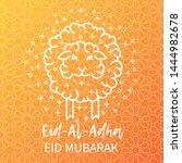 muslim holiday eid al adha card ... | Shutterstock .eps vector #1444982678