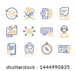 consultant  computer keyboard... | Shutterstock .eps vector #1444990835