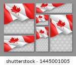 canadian patriotic festival... | Shutterstock .eps vector #1445001005