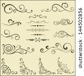 set of vector swirl elements... | Shutterstock .eps vector #144502856