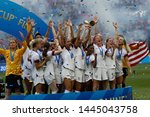team of united states celebrate ... | Shutterstock . vector #1445043758