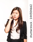 young businesswoman with... | Shutterstock . vector #144504662
