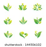 green nature social logo and... | Shutterstock .eps vector #144506102