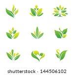 Green Nature Social Logo And...