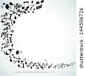 musical abstract vector... | Shutterstock .eps vector #144506726