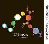 dna molecule structure... | Shutterstock .eps vector #144508382