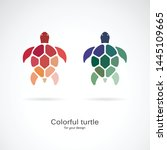 Vector Of Two Colorful Turtles...