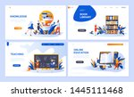 set of landing page template... | Shutterstock .eps vector #1445111468