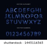 Blue Lightning Style Letters...