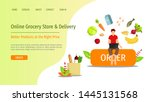 web page design template for...   Shutterstock .eps vector #1445131568