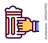 hand holding beer mug line...