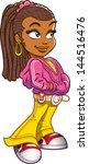 young urban black ethnic girl... | Shutterstock .eps vector #144516476