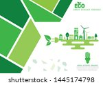 ecology connection electrical... | Shutterstock .eps vector #1445174798