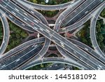 aerial view of highway and... | Shutterstock . vector #1445181092