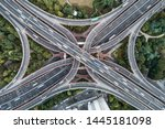 aerial view of highway and... | Shutterstock . vector #1445181098