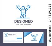 creative business card and logo ... | Shutterstock .eps vector #1445191118