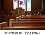 stained glass windows in small... | Shutterstock . vector #144519818