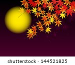 autumn moon viewing night with... | Shutterstock .eps vector #144521825
