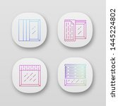 window treatments app icons set....