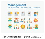 management icons set. ui pixel...