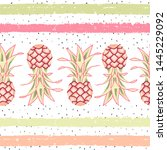 tropical seamless pattern with... | Shutterstock .eps vector #1445229092