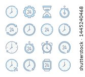 time  hour and clock related... | Shutterstock .eps vector #1445240468