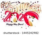 chinese happy new year 2020.... | Shutterstock .eps vector #1445242982