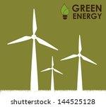 green energy over green... | Shutterstock .eps vector #144525128