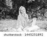 business lady freelance work... | Shutterstock . vector #1445251892