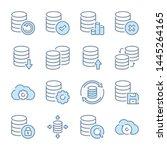 database  data storage and... | Shutterstock .eps vector #1445264165