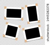set of empty photo frames with... | Shutterstock .eps vector #1445282378