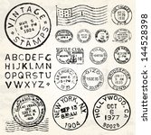 Vector Postage Stamp Set. Grea...