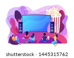 movie night with friends.... | Shutterstock .eps vector #1445315762