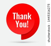 thank you banner. red paper... | Shutterstock .eps vector #1445316275