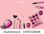 vector golden lipstick and...   Shutterstock .eps vector #1445318648